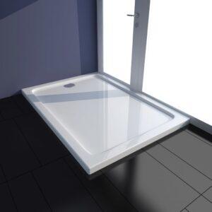 Base de chuveiro retangular ABS 70 x 100 cm branco - PORTES GRÁTIS