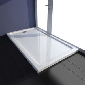 Base de chuveiro retangular ABS 70 x 120 cm branco  - PORTES GRÁTIS