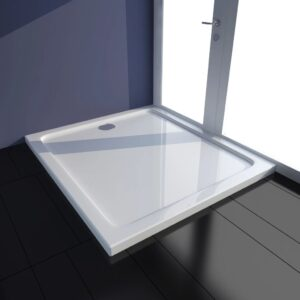 Base de chuveiro retangular ABS 80 x 90 cm branco  - PORTES GRÁTIS