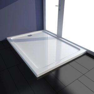 Base de chuveiro retangular ABS 80 x 110 cm branco  - PORTES GRÁTIS