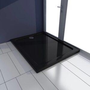 Base de chuveiro retangular ABS 70 x 90 cm preto  - PORTES GRÁTIS