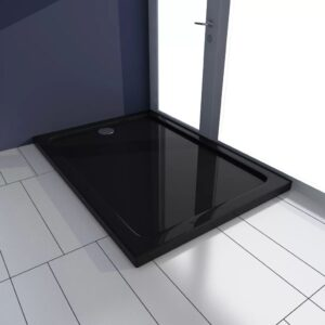 Base de chuveiro retangular ABS 70 x 100 cm preto - PORTES GRÁTIS