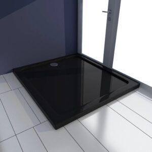 Base de chuveiro retangular ABS 80 x 90 cm preto - PORTES GRÁTIS