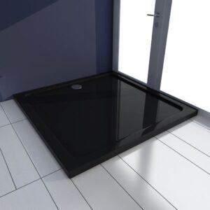 Base de chuveiro quadrada ABS 90 x 90 cm preto  - PORTES GRÁTIS