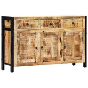 Aparador 120x35x76 cm madeira de mangueira maciça  - PORTES GRÁTIS