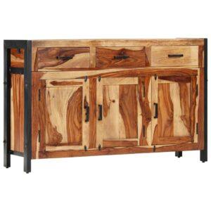 Aparador 110x35x75 cm madeira de sheesham maciça - PORTES GRÁTIS