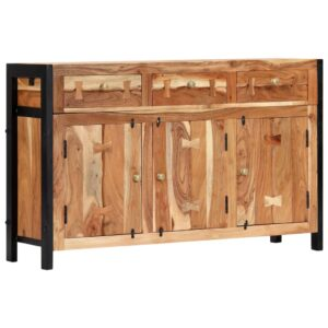 Aparador 120x35x75 cm madeira de acácia maciça - PORTES GRÁTIS