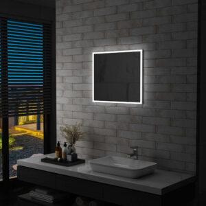 Espelho de parede LED para casa de banho 60x50 cm - PORTES GRÁTIS
