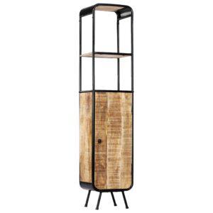 Armário alto 40x30x180 cm madeira de mangueira áspera maciça - PORTES GRÁTIS