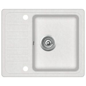 Lava-louça com 1 cuba granito branco - PORTES GRÁTIS