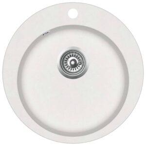 Lava-louça com 1 cuba redonda granito branco - PORTES GRÁTIS