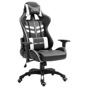Cadeira de gaming PU branco - PORTES GRÁTIS