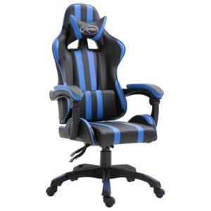 Cadeira de gaming PU azul - PORTES GRÁTIS