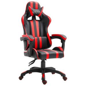 Cadeira de gaming PU vermelho - PORTES GRÁTIS