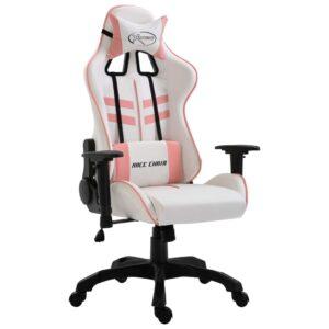 Cadeira de gaming couro artificial rosa - PORTES GRÁTIS