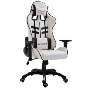 Cadeira de gaming PU preto - PORTES GRÁTIS
