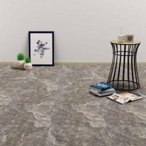 Tábuas de soalho autoadesivas 5,11 m² PVC mármore preto - PORTES GRÁTIS