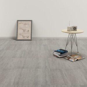 Tábuas de soalho autoadesivas 5,11 m² PVC pontilhado cinzento - PORTES GRÁTIS