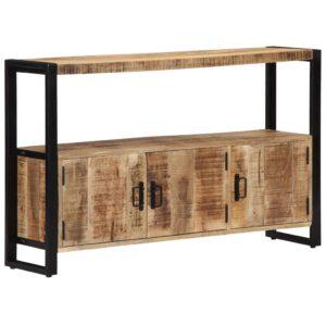 Armário lateral 120x30x75 cm madeira de mangueira maciça - PORTES GRÁTIS