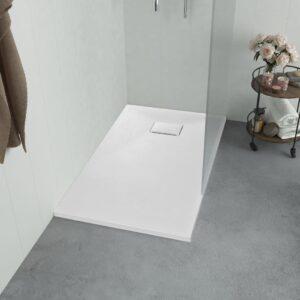 Base de chuveiro SMC 100x80 cm branco - PORTES GRÁTIS
