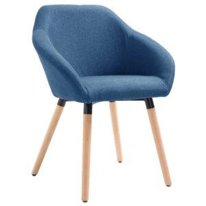 Cadeira de jantar em tecido azul - PORTES GRÁTIS