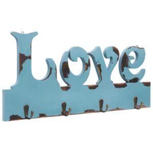Cabide de parede LOVE 50x23 cm - PORTES GRÁTIS