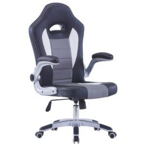 Cadeira de gaming couro artificial preto - PORTES GRÁTIS
