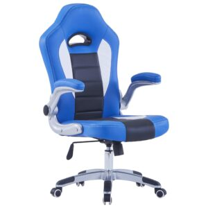 Cadeira de gaming couro artificial azul - PORTES GRÁTIS