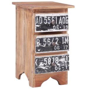 Mesa de cabeceira 30x30x51 cm madeira recuperada maciça - PORTES GRÁTIS