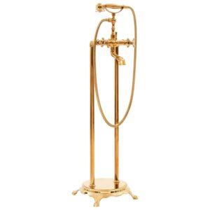 Torneira de pé para banheira aço inoxidável 99,5 cm dourado - PORTES GRÁTIS