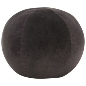 Pufe em veludo de algodão 50x35 cm antracite  - PORTES GRÁTIS