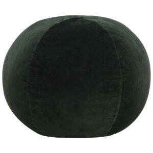 Pufe em veludo de algodão 50x35 cm verde - PORTES GRÁTIS
