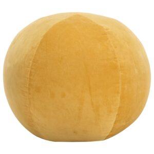 Pufe em veludo de algodão 50x35 cm amarelo - PORTES GRÁTIS