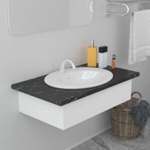 Lavatório embutido 51x45,5x19,5 cm cerâmica branco - PORTES GRÁTIS