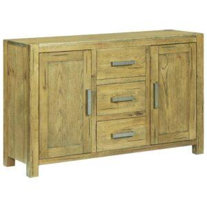 Aparador 110x35x70 cm madeira de carvalho rústica - PORTES GRÁTIS