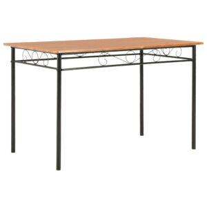 Mesa de jantar 120x70x75 cm MDF castanho - PORTES GRÁTIS
