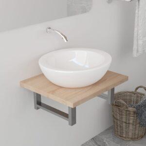 Móvel de casa de banho 40x40x16,3 cm cor carvalho  - PORTES GRÁTIS