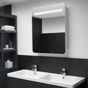 Armário espelhado para casa de banho com LED 68x11x80 cm - PORTES GRÁTIS