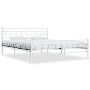 Estrutura de cama metal 140x200 cm branco - PORTES GRÁTIS