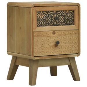 Mesa de cabeceira 37x30x51 cm madeira castanho - PORTES GRÁTIS