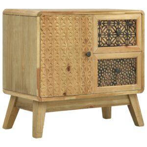 Aparador 60x30x56,5 cm madeira castanho - PORTES GRÁTIS