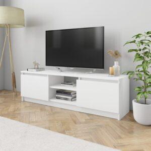 Móvel de TV 120x30x35,5 cm contraplacado branco - PORTES GRÁTIS
