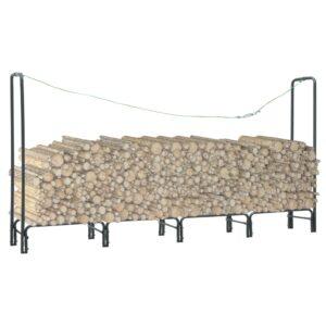 Suporte para lenha 240x35x120 cm aço antracite - PORTES GRÁTIS