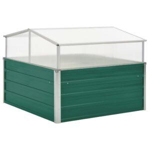 Estufa 100x100x77 cm aço galvanizado verde - PORTES GRÁTIS