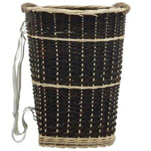Mochila para lenha com alças 50x44x58 cm salgueiro natural - PORTES GRÁTIS