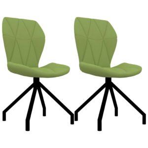 Cadeiras de jantar 2 pcs couro artificial verde - PORTES GRÁTIS
