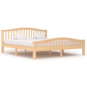 Estrutura de cama em pinho maciço 180x200 cm - PORTES GRÁTIS
