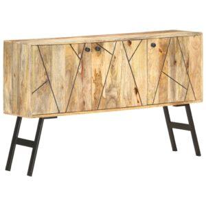 Aparador 118x30x75 cm madeira de mangueira maciça - PORTES GRÁTIS