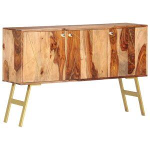 Aparador 118x30x75 cm madeira de sheesham maciça - PORTES GRÁTIS