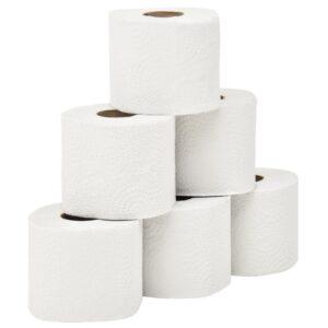 Papel higiénico folha dupla com relevo 128 rolos 250 folhas - PORTES GRÁTIS